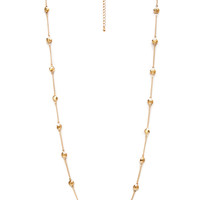 FOREVER 21 Faceted Bead Chain Necklace Gold One