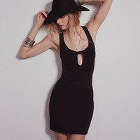 Black Halter Cutout Bodycon Mini Dress