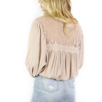 Grand Park Brown Button Up Top