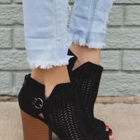 Mesh Ankle Boot, Black