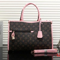 LV Louis Vuitton Pink Bag Women Shopping Bag Leather Shoulder Bag Satchel Crossbody