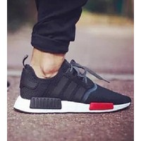 ADIDAS NMD Knit Shoes Black+white soles Sports Shoes Sneakers For Women Men