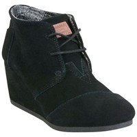 TOMS Desert Wedge Black Wedge Boot