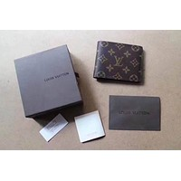 LV Louis Vuitton Women and Men Wallet Purse Moneybag LV Bumbag LV Wallet 816