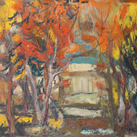 Fall Landscape Original oil painting on canvas