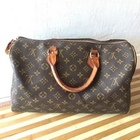 Preloved LV speedy monogram 35  leather