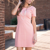 On My Mind Dress, Peach Echo
