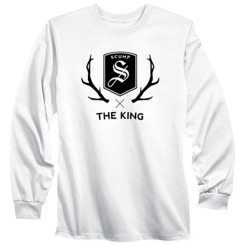 Scump Crest Long Sleeve - Blk on Wht