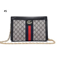 GUCCI fashion hot seller lady's casual print patchwork color single shoulder shopping bag #5