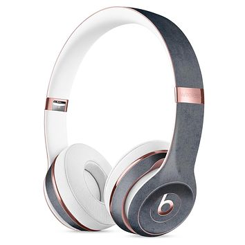 Blue Concrete Grunge Surface Full-Body Skin Kit for the Beats by Dre Solo 3 Wireless Headphones