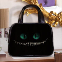 Alice in Wonderland Cheshire Cat Women's Classic Carrier Purse Leather Handbag
