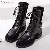 Givenchy New fashion leather leisure shoes women Black