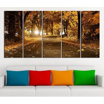 Large Wall Art Autumn and Forest Prints on Canvas Nature Art For Living Room