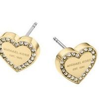 Heart-shaped diamond Crystal Stud Earrings Boucle