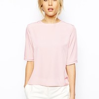ASOS Lightweight T-Shirt with Keyhole Back -