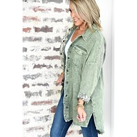 All In A Days Work Jacket - Olive
