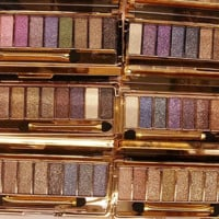 9 Color Glitter Eyeshadow Palette With Brush
