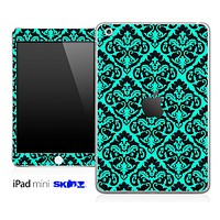 Trendy Green and Black Delicate Pattern Skin for the iPad Mini or Other iPad Versions