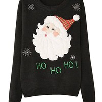 Ninimour- Marroon Santa Clause Christmas Winter Sweater Pullover
