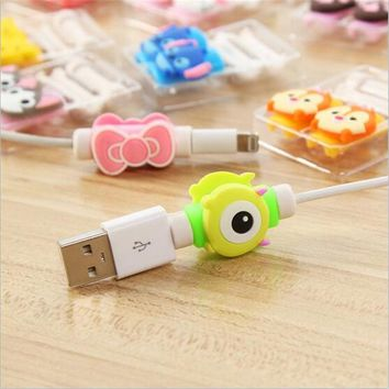 USB Cable Protector Colorful Cover For Iphone 4 4S 5 5S 5C 6 Plus 6S SE 7 8 Plus X Case Charger Data Cable Earphone Accessories