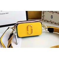 Marc Jacobs  stylish women's patchwork color shoulder bag is a hot seller of casual shopping bags Yellow