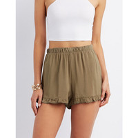 Flowy Ruffle-Trim Shorts