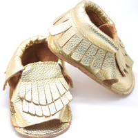 Royalty-Double Fringe Baby Sandals