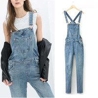 Denim Srappy Jumpsuit