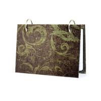 Index card binder with a scroll tapestry design address book