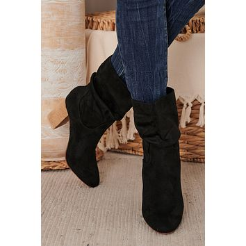 IMPERFECT Strut Like You Mean It Slouch Booties (Black)