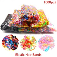 Women About 1000pcs/pack Rubber Hair Bands Rope Silicone Ponytail Tpu Hair Holders Elastic Tie Gum For Girls Hair Accessories