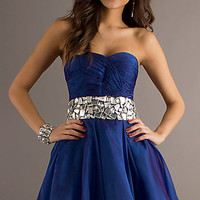 Short Strapless Prom Dress by Alyce Paris