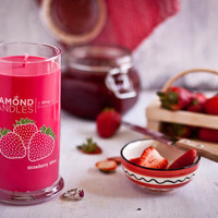 Strawberry Bliss - All Natural Soy Candles By Diamond Candles