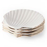 Aerin Set of 4 Shell Appetizer Plates | Nordstrom