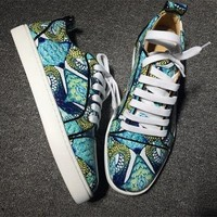 Cl Christian Louboutin Low Style #2053 Sneakers Fashion Shoes