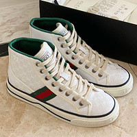 Men's and women's GG tennis 1977 classic canvas shoes