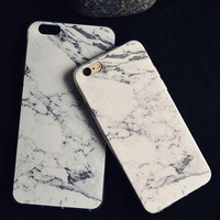 Phone Case Cover For iPhone 6/ 6 Plus Ultra Soft TPU Transparent Marble Grain Pattern Case