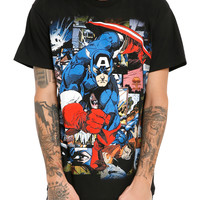 Marvel Captain America Comic T-Shirt
