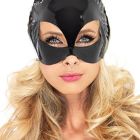Vinyl Cat Woman Costume Mask