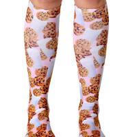 Milk and Cookies Knee High Socks
