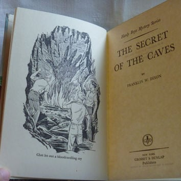 The Hardy Boys Mystery Book The Secret of the Caves 1964