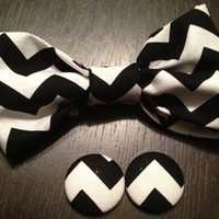 Global Couture — Black and white chevron