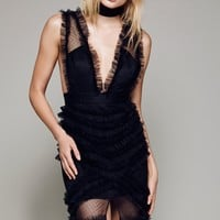 Free People All Black Everything Gown