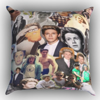 One Direction Niall Horan Collage Zippered Pillows  Covers 16x16, 18x18, 20x20 Inches