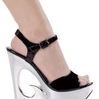 Ellie Shoes Moscow 6 Inch Wedge Heel Sandal. (10,White)