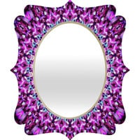Monika Strigel Pink Arabesque Quatrefoil Mirror