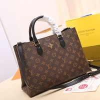 LV Louis Vuitton MONOGRAM CANVAS TOTE FLEUR HANDBAG SHOULDER BAG