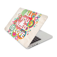 All You Need Is Love Exploding Shapes Skin for the Apple MacBook