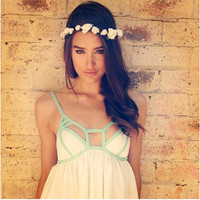White small flowers crown by Valetoris on Etsy