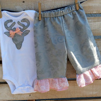 Baby Girl Deer Onesuit Outfit